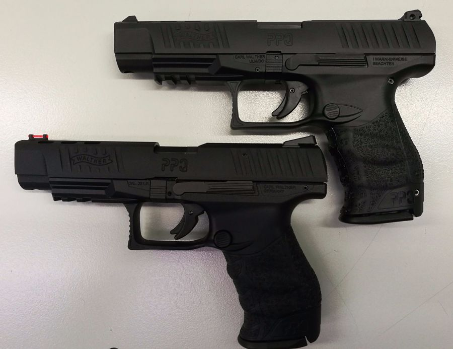 Walther PPQ MP M20 9mm vs 22lr